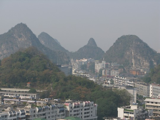 Guilin z gory