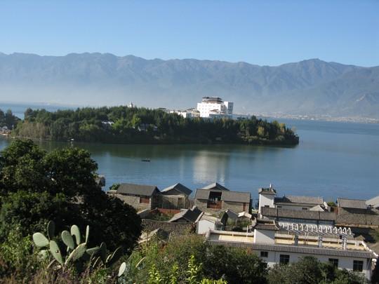 Erhai i wyspa z gory