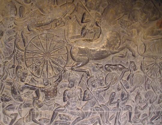 Sciany Angkor Wat