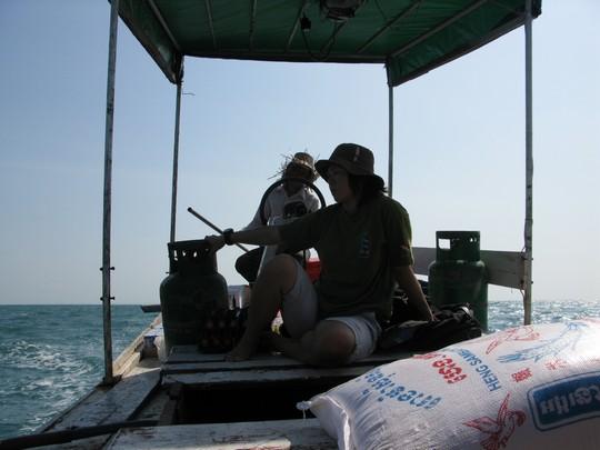Lodka na Koh Rong