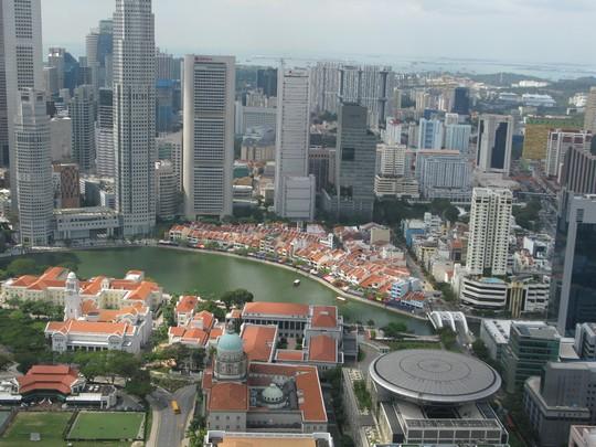 Centrum Singapuru z góry