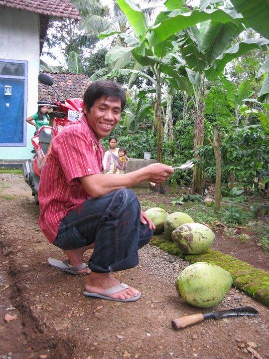 Przygotowywanie kokosów