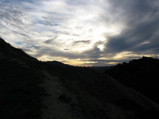 Zachód słońca na farmie