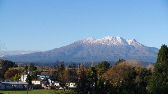 Widok na Mt Ruapehu